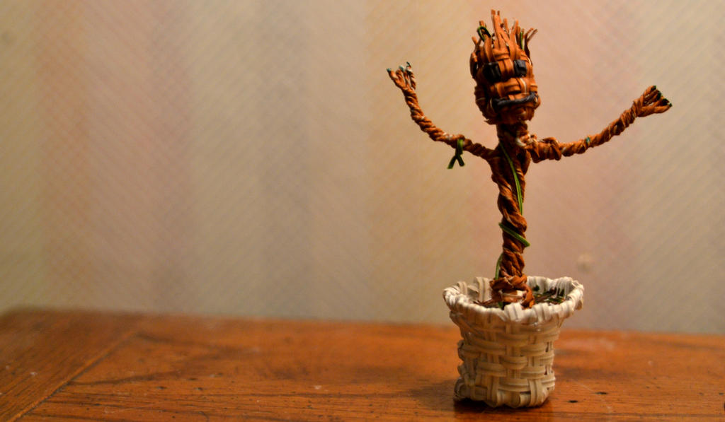 Twist Tie Groot by justjake54
