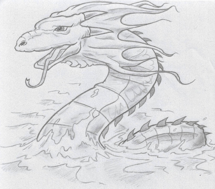 Sea Serpent by Pizza-Is-Yum on DeviantArt