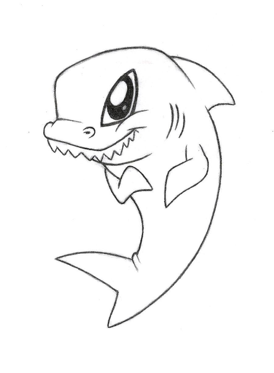 Cute Shark Drawing  Cute Shark Draw...
