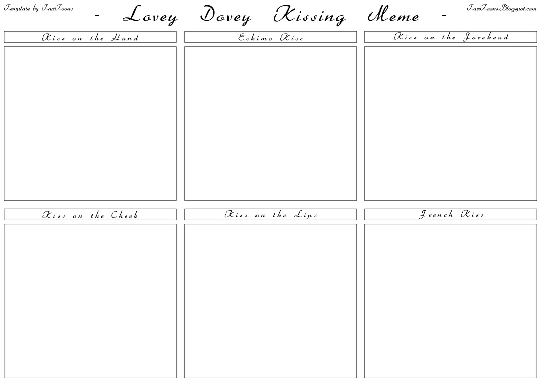 Lovey dovey kissing meme blank by taritoons on deviantart lovey dovey kissing meme blank by taritoons pronofoot35fo Images
