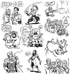 CRPG Doodles 2 by TariToons