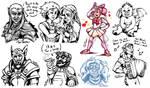 Baldur's Gate Doodles by TariToons