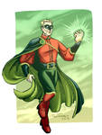 The light of the Green Lantern