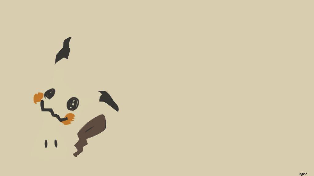 Mimikyu minimalist wallpaper by xxgl1tch artxx on deviantart for What is a minimalist