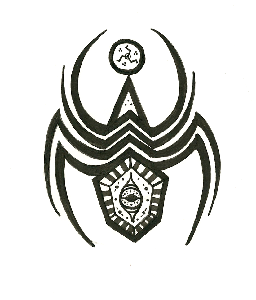 totem tats spider decorated example by shadowynight on deviantart