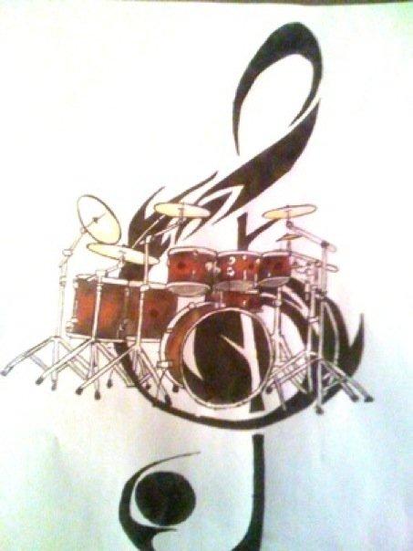 Tribal Drum Tattoos