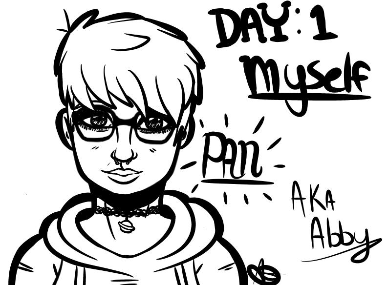Day 1: Draw yourself by MadhatterMiss