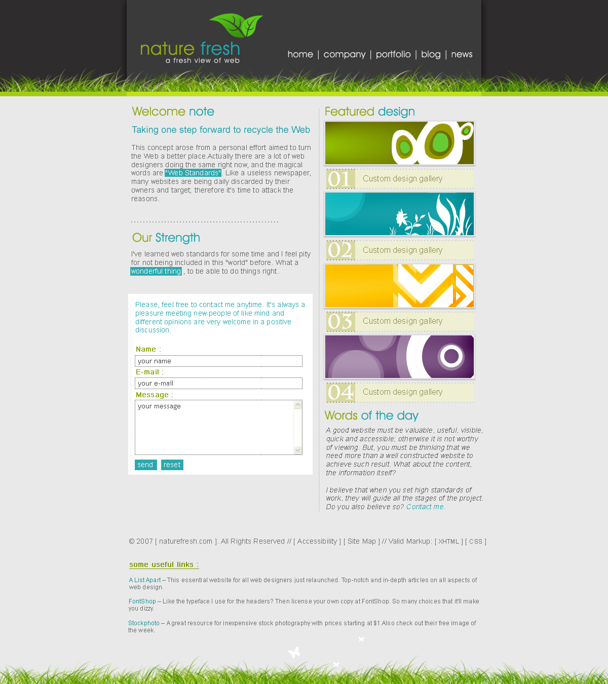 Simple css template by cr8iv on deviantart for Simple html css templates