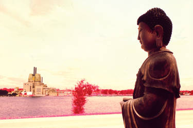 Buddha At The River 2 by vanfoto