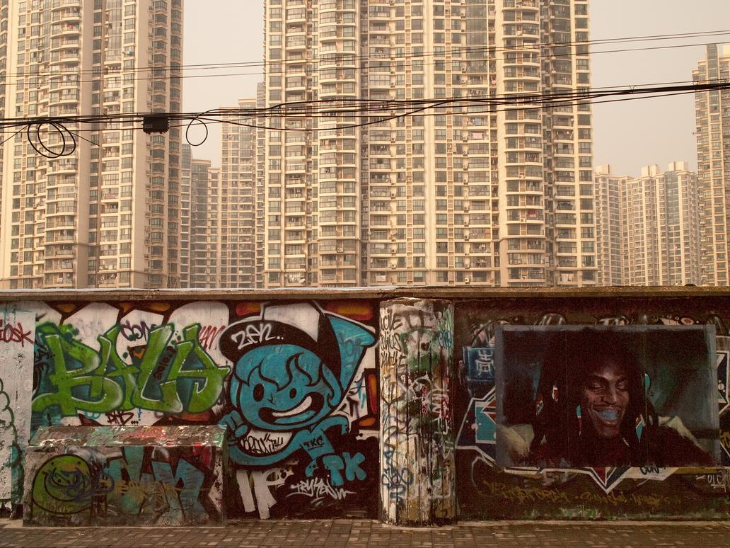 Shanghai Graffiti, Moganshan Road by vanfoto