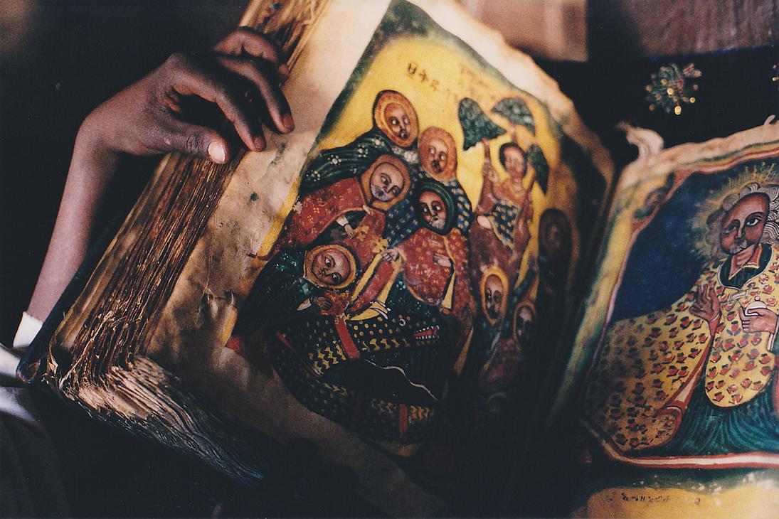 Hand Made Bible, Debre Damo Monastery, Ethiopia by vanfoto
