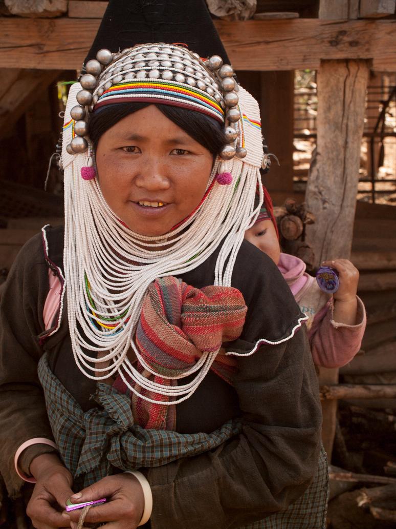 Akha Woman in Shan State, Myanmar, 2016 by vanfoto