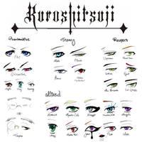 KUROSHITSUJI EYE CHART