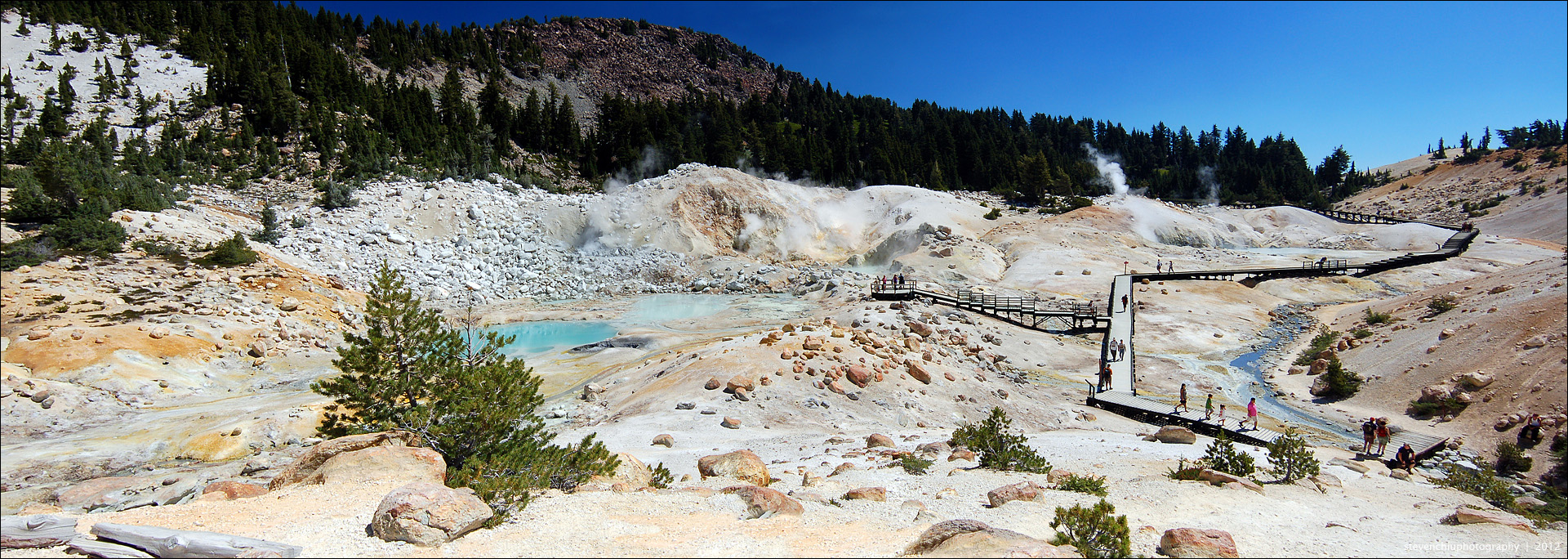 bumpass hell panorama by souk1501