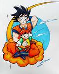 Dragon Ball Z Goku and Baby Gohan by Dyewind