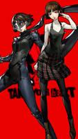 Persona 5 Makoto Nijima - Phone Background