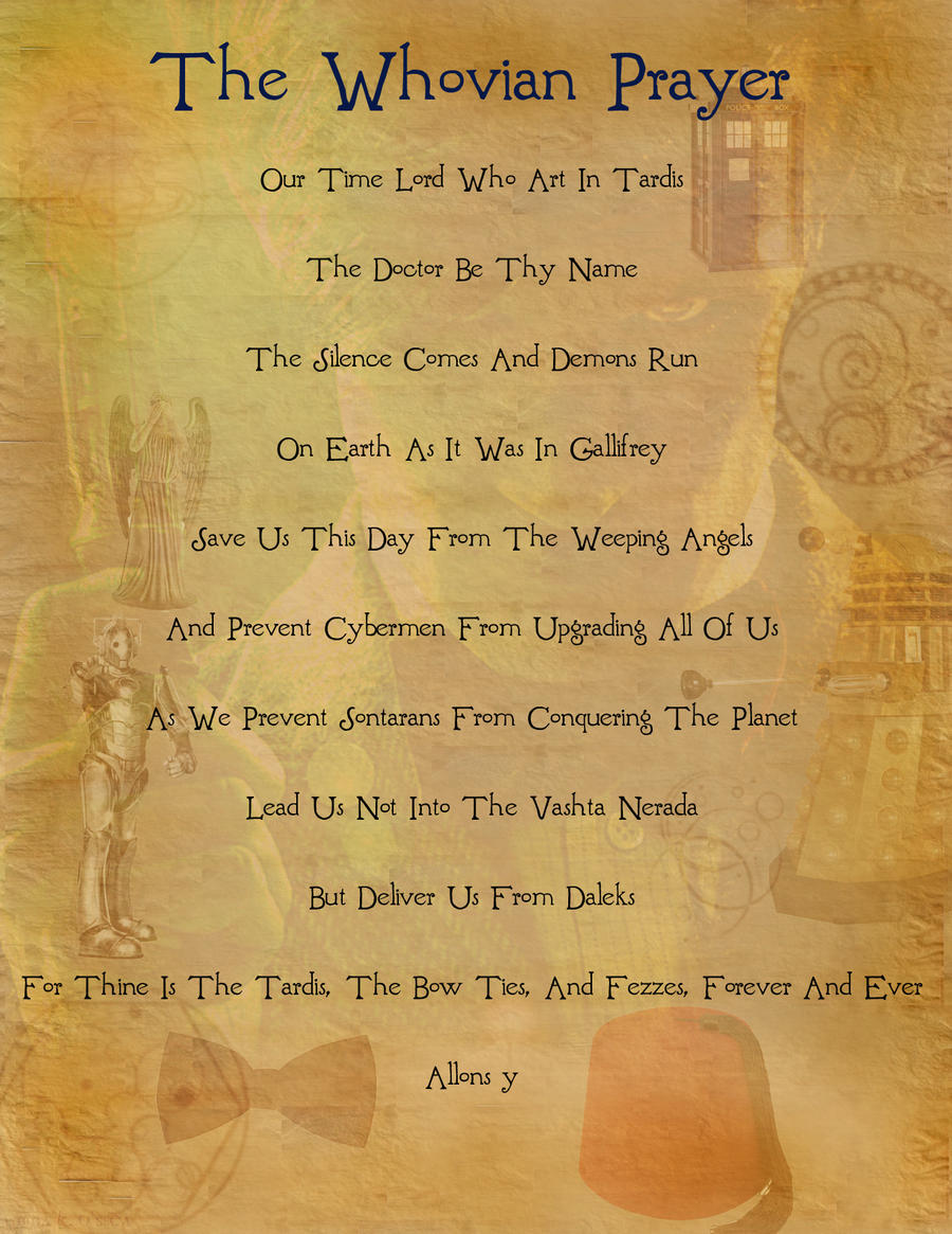 The Whovian Prayer
