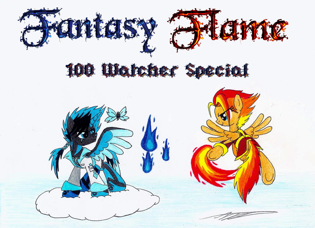 Fantasy Flame (100 Watcher Special) by AZ-Derped-Unicorn