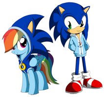 Sonic and Rainbow Dash: Each Other's Fan by AZ-Derped-Unicorn