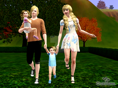 Anderson - cute family portrait by choko-sims on DeviantArt