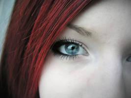 redhead eye by schwoopp