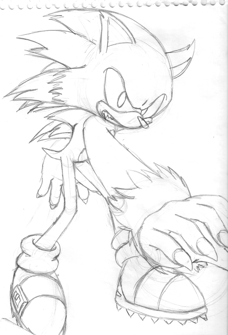 Super Sonic Coloring Pages To Print Sonic The Werehog Coloring Pages