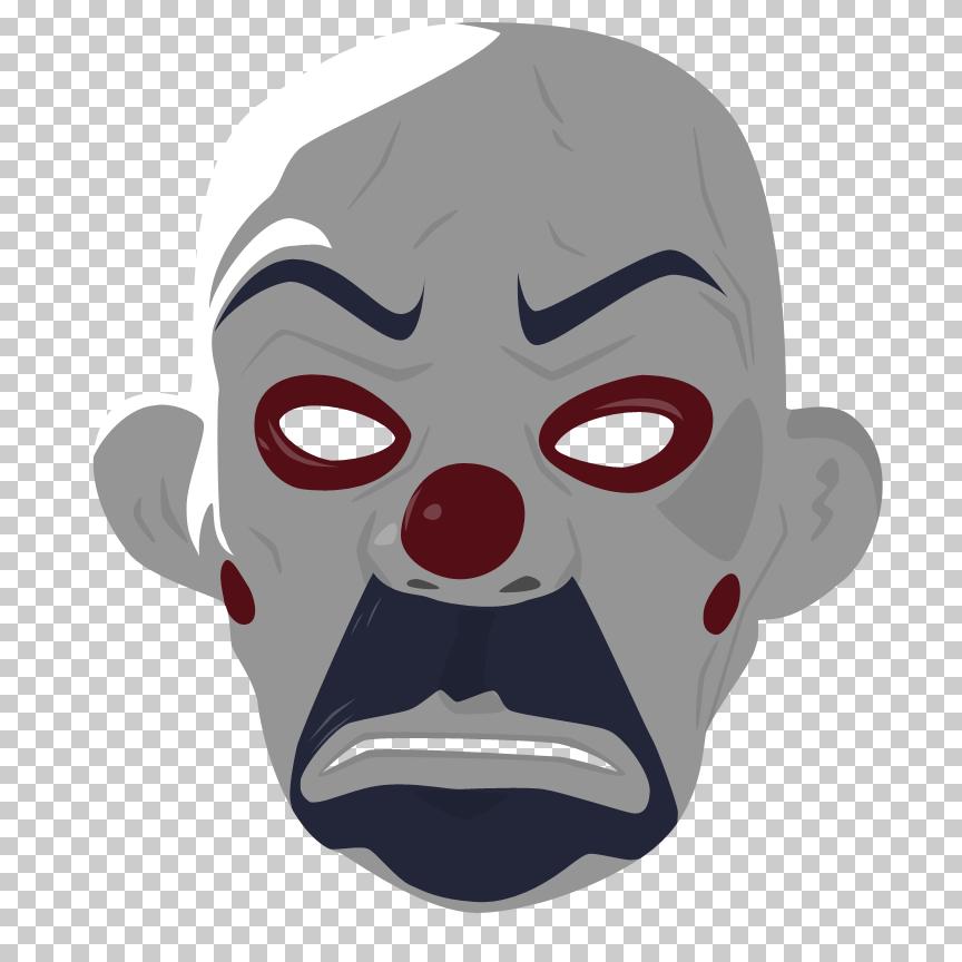 Dark knight mask drawing