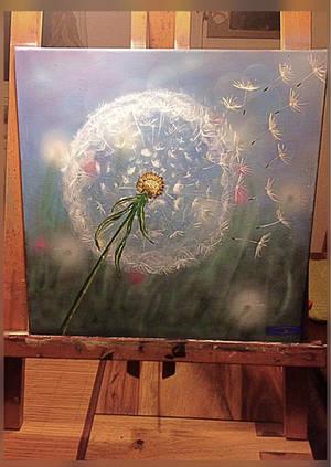 -winter dandelion- by Gold-Angel