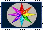 -rainbow star stamp-