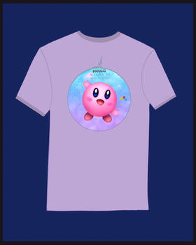 -kirby on t-shirt-
