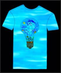 -mermaid on t-shirt-