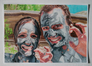 Mud Portrait - Copic Markers and Color Pencils
