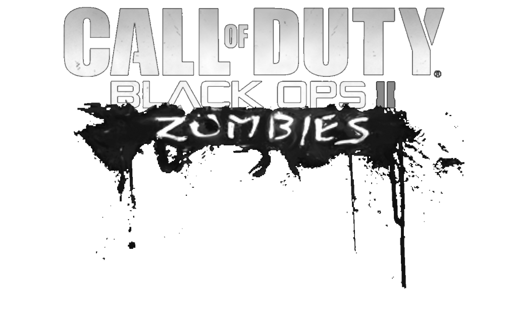 Call of duty black ops 2 zombies logo b and w by for Call of duty coloring page