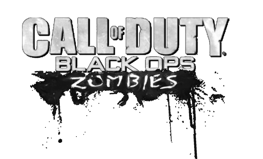 Call Of Duty Black Ops Zombies Logo B And W By Josael281999 On