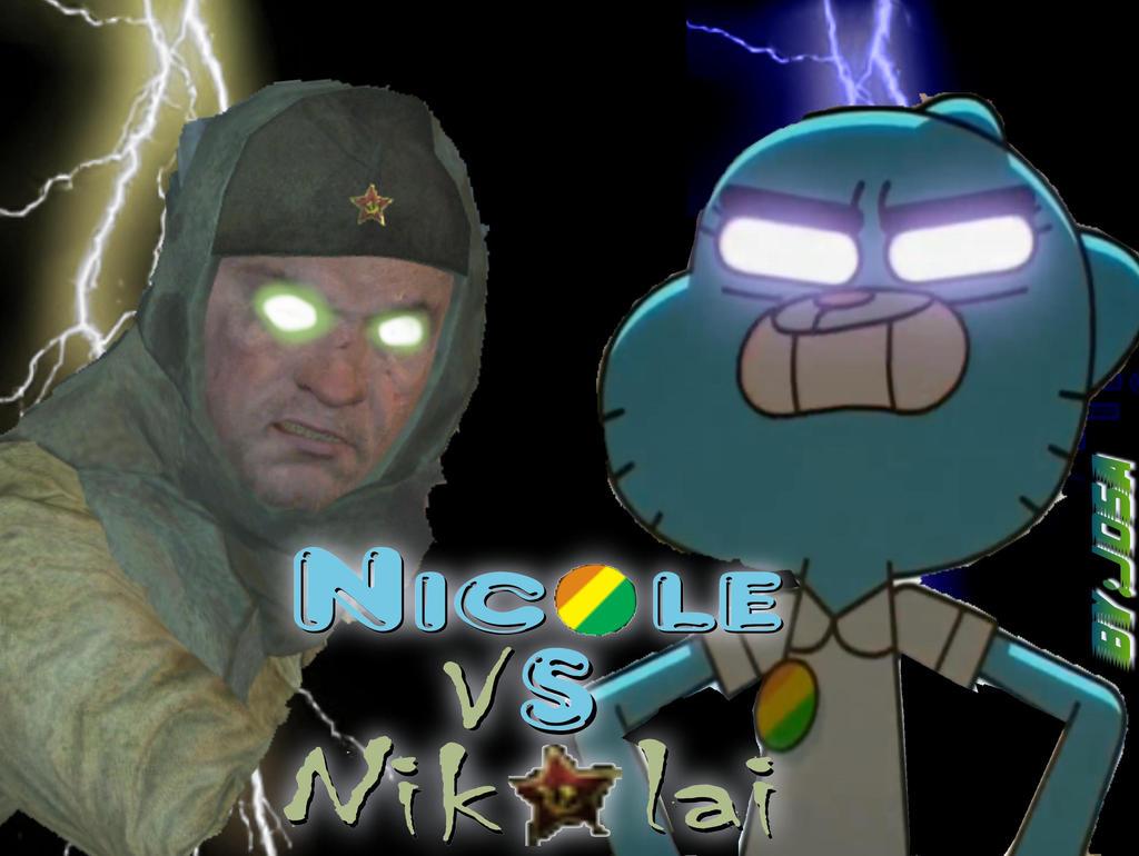 TAWOG NZ:Glowing-Eye Nicole Vs Nikolai by Josael281999