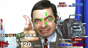 Mr.Bean playing Call of Duty Zombies