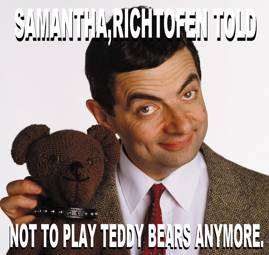 Mr bean not to play teddy bears meme by josael281999