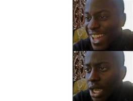 Happy-Sad Black Guy Meme Template by Josael281999