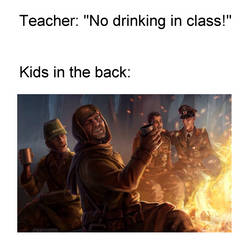 No Drinking In Class COD Zombies #2 Meme by Josael281999
