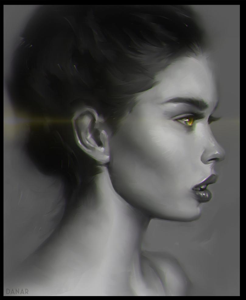 yellow flower by DanarArt