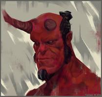 Hellboy Sketch by DanarArt