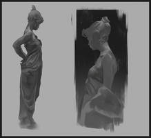 Sculpture Study by DanarArt