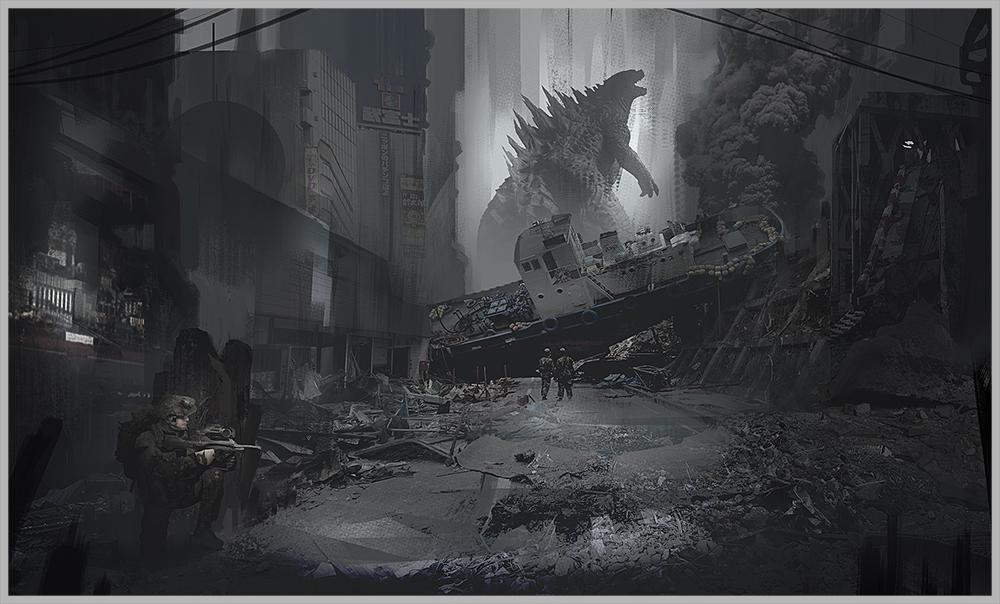 quick Godzilla Fan-art by DanarArt