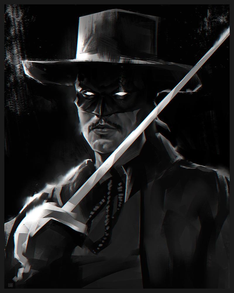 Zorro sketch by DanarArt