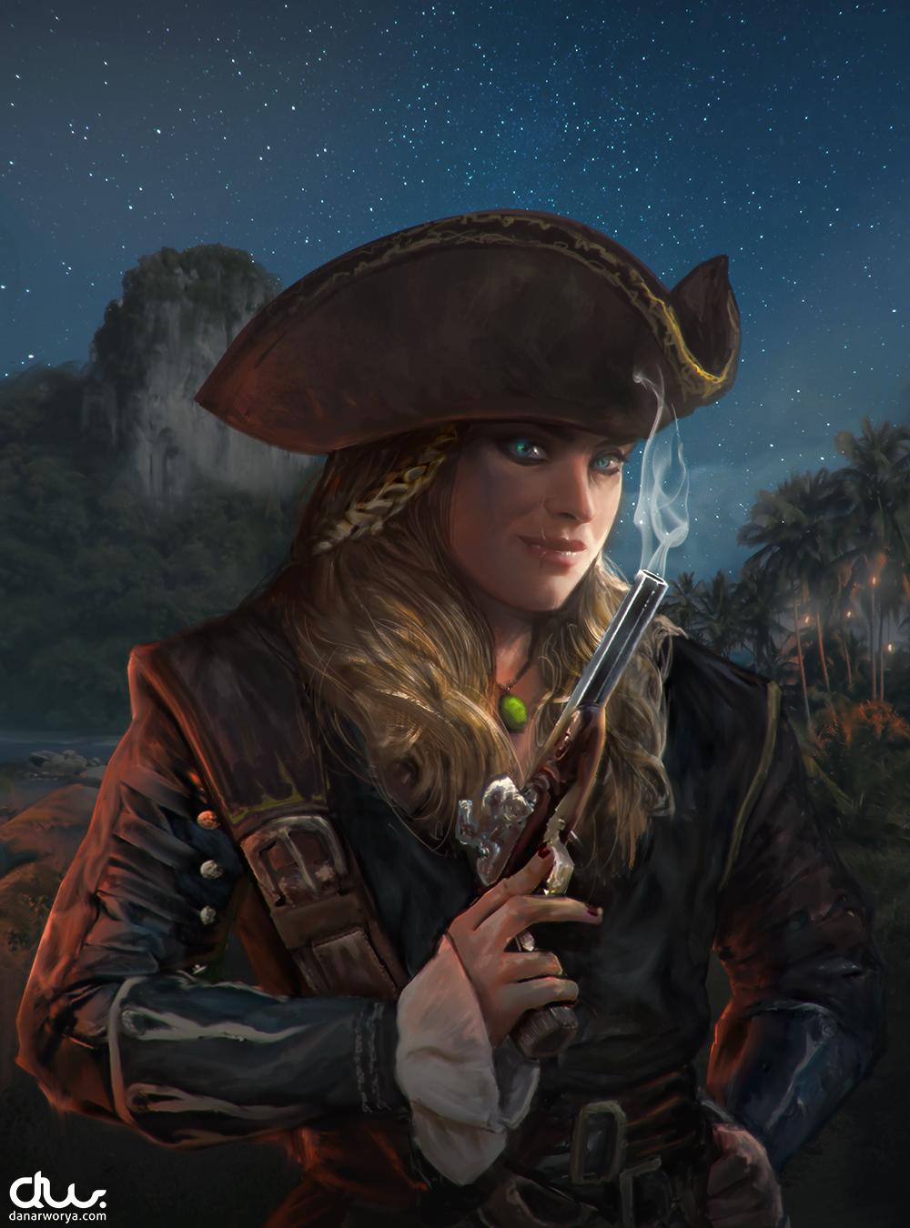 Pirate Girl by DanarArt