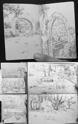 Environment Sketches by DanarArt