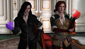 Good Mornin,Gerald! | Triss and Yennefer by zoellisrus