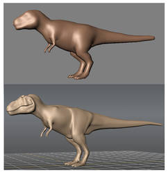 Mudbox T.rex Test by Steveoc86