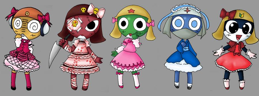 Images et dessins improbables de lolitas Keroro_Lolita_Platoon_by_Corporal_Giroro