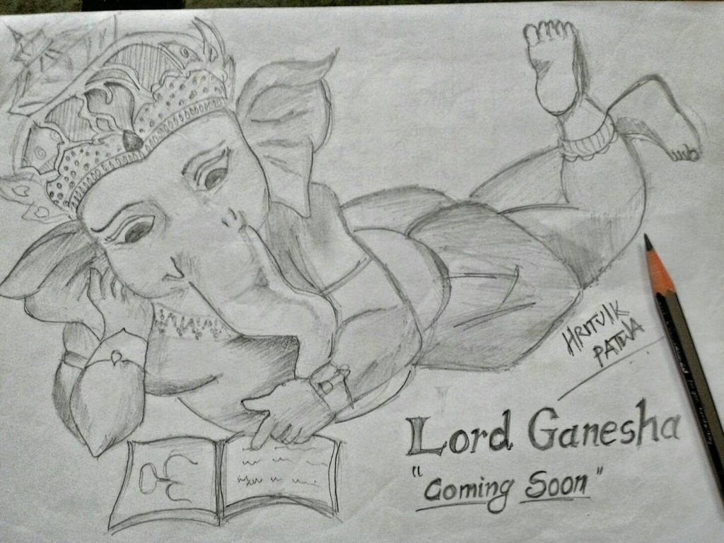 a sketch of lord ganesha  by Hritvik3